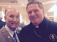 Michael Mick with Cardinal Joe Tobin